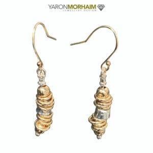 Silver 14k Rolled Gold Drop Earrings
