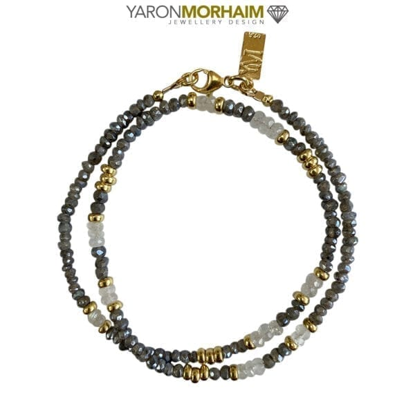 Labradorite & Moonstone Gold Necklace