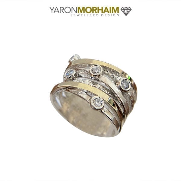 Silver & Gold Cocktail Ring