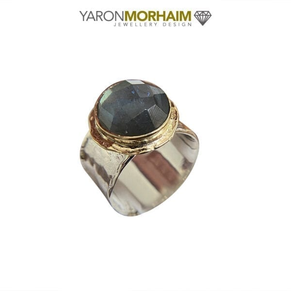 Labradorite Silver & Gold Ring