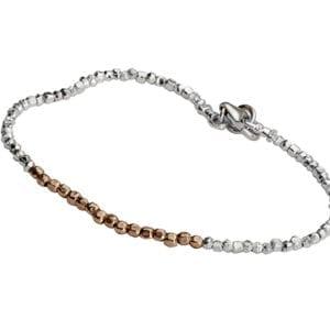 Silver Gold Nuggtes Bracelet