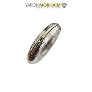 Rustic Silver & Gold Band