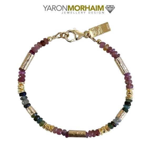 Multicolour Tourmaline Gold Vermeil Bracelet