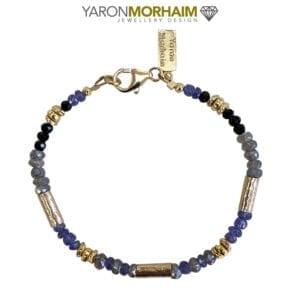 Tanzanite Aquamarine Tourmaline Bracelet