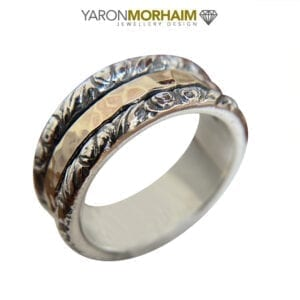 Bold, Statement Silver & Gold Ring